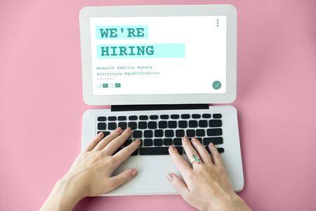 Baan Carrière Hiring Rekrutering Kwalificatie Grafisch Stockfoto