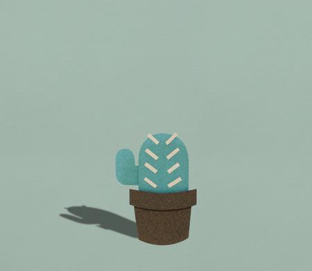 Cactus houseplant cartoon icon graphic