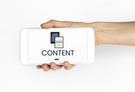 オンライン コンテンツ データ情報のイラスト
