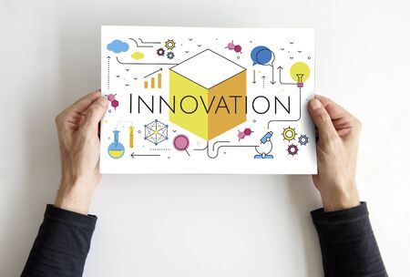 Illustration of innovation technology invention