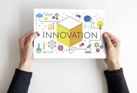 Illustrazione di invenzione della tecnologia innovazione Archivio Fotografico - 81057764