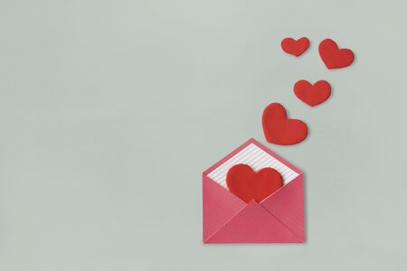 Love Letter Heart Floating Mail Correspondence Relationship Фото со стока