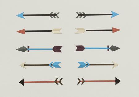 화살표 양궁 방향 아이콘 기호