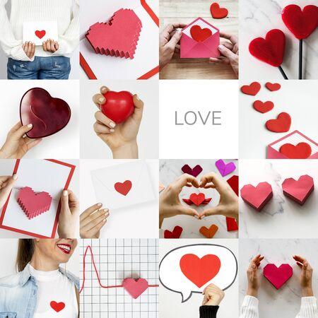 사랑 마음 아트웍 스튜디오 콜라주와 성인 여성