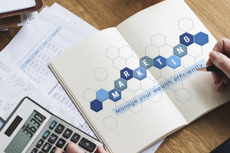 Business mensen analyse economie financiële transactie investeringen Stockfoto