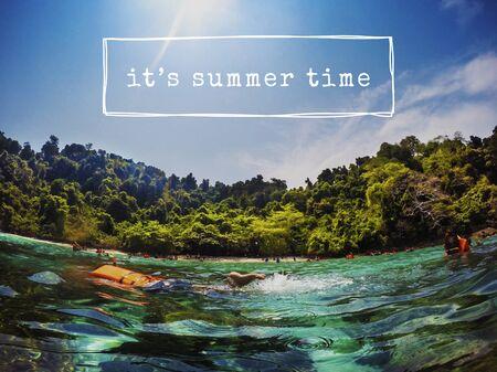 Vacaciones de verano en el mar