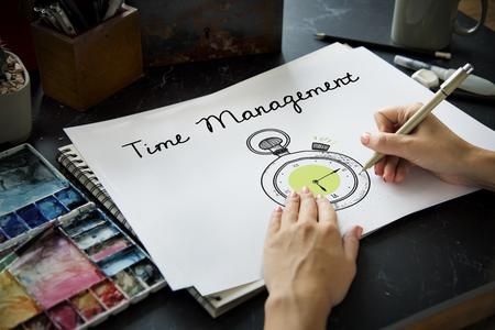 Illustratie van persoonlijke organizer van het chronometertijdbeheer