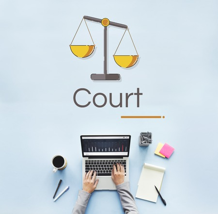 Illustration of justice scale rights and law Stock Illustration - 81058853