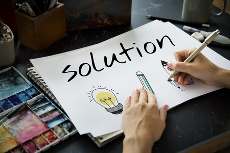 Illustration of creativity ideas for problem solving solution Stok Fotoğraf