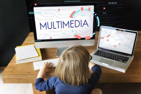 techie: Multimedia Entertainment Communication Technology Icon