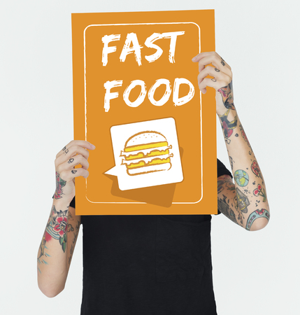 Burger Fast Food Icon Graphic