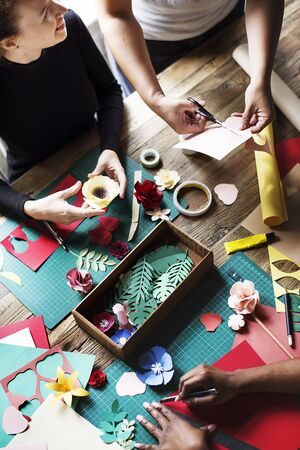 People making paper flowers craft art work handicraft stock photo people making paper flowers craft art work handicraft stock photo 81452838 mightylinksfo