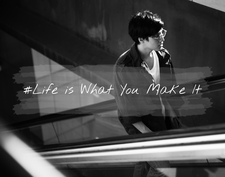 Life is What You Make It Motivation Attitude Passion Stock fotó
