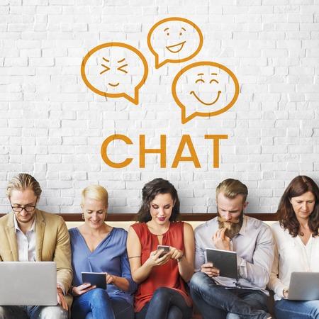Graphic of chat social media communication Reklamní fotografie