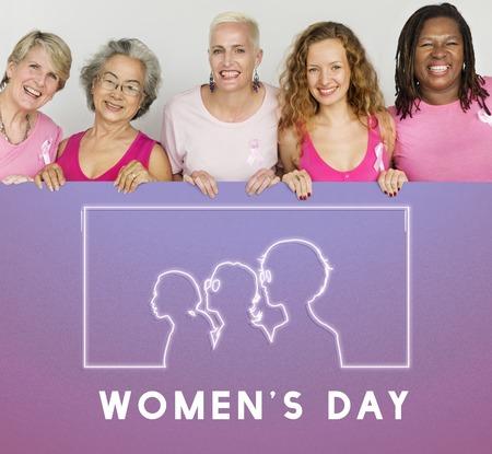 Internationale Frauentag-Gleichheits-Rechte-Grafik Standard-Bild - 81197781