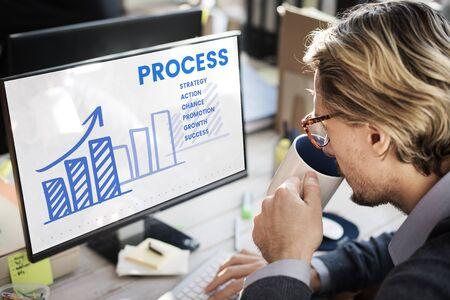 Zakenman analyse marketing strategieplan