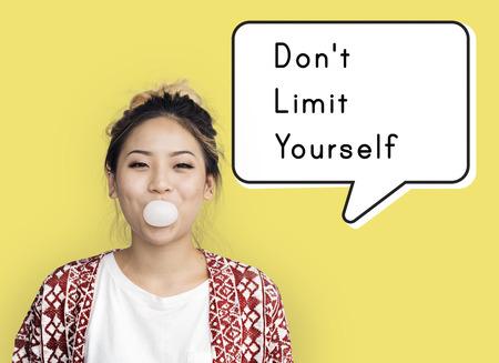 No Limit Yourself Freedom Motivation Success Reklamní fotografie