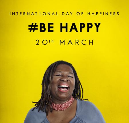Bonne journée internationale du concept de bonheur Banque d'images - 81204349