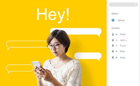Chat Message Talk Connect Notification Word Banco de Imagens - 81311020