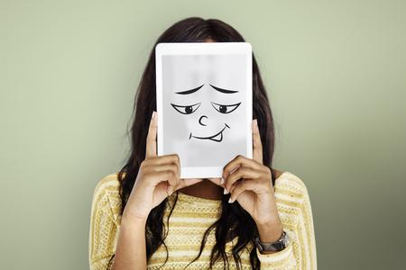 顔の表情の感情感情を描画 写真素材 - 81220212
