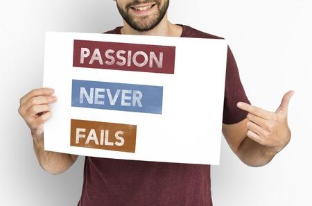 Rappelez-vous à rêver passion frapper le courage est de l & # 39 ; autre Banque d'images - 81203492
