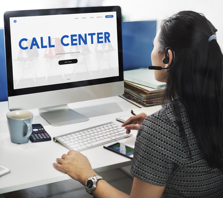 Call Center Hot Line Information Concept Stock Photo