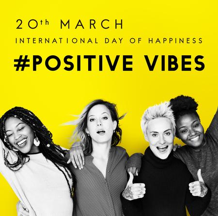 Bonne journée internationale du concept de bonheur Banque d'images - 81220751