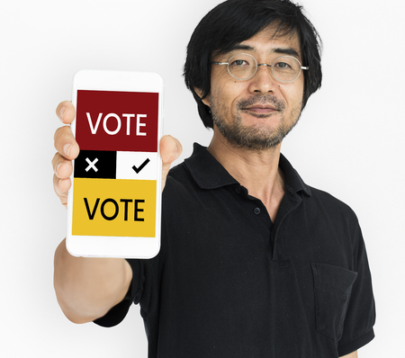 Vote concept on a device screen