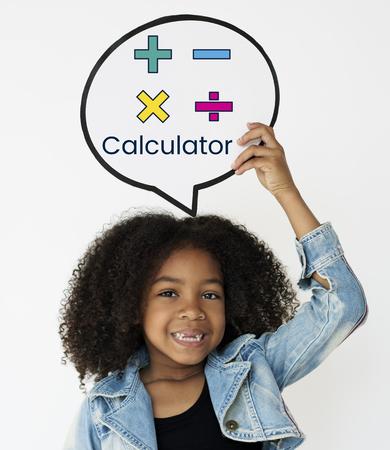 Illustration de symbole calculateur mathématiques Banque d'images - 81235681