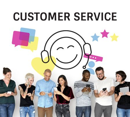 Customer Service Interaction Help Concept
