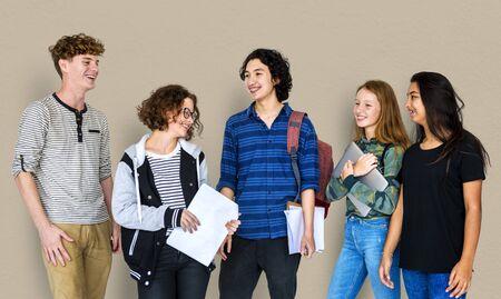 spolužák: Group of Diverse Students Friendship Together Studio Portrait