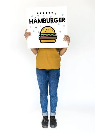 Hamburger Fast Food Unhealthy Nutrition Meal