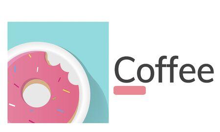 Illustration of sweet dessert donut pastry commercial