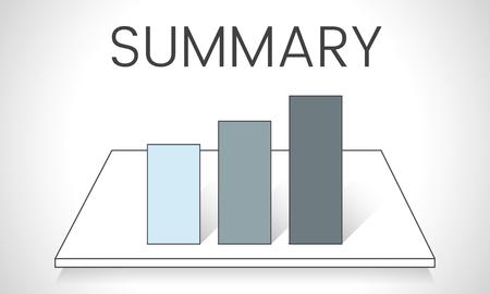 Illustration of business graph analysis Stock Illustration - 81124667