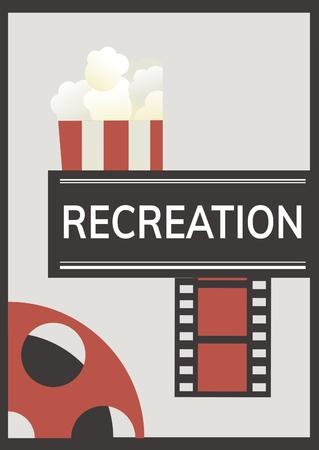 映画の時間をレクリエーション楽しいコンセプト
