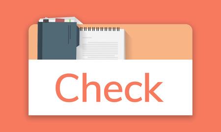Illustration of personal organizer notepad Stock Photo