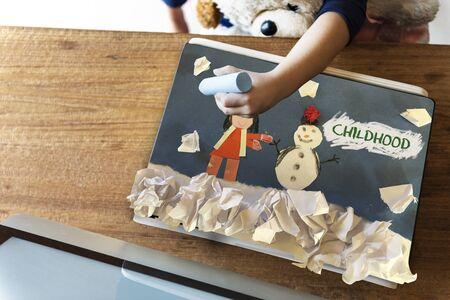 눈사람 삽화로 재미있는 아이들