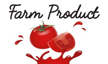 유기농 야채 신선한 토마토 개념