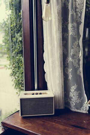 Vintage Retro Radio by The Window