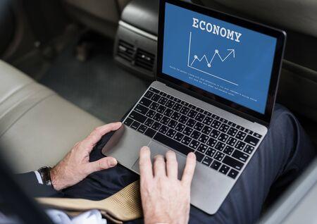 Investeringsgrafiek van de beurs van de beurs van de beurs