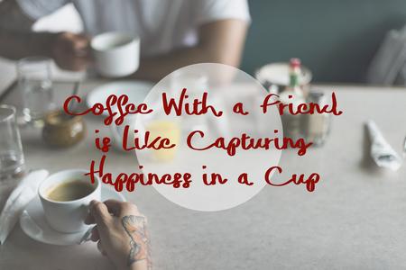 Coffee With Friend Break Concept Stock Photo