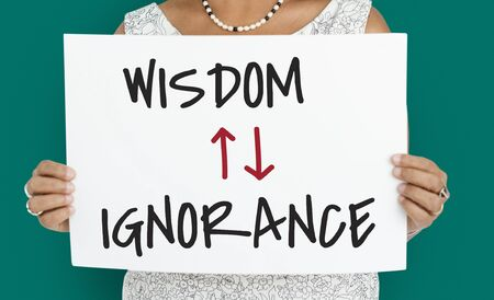 illiteracy: Proficiency Antonyms Wisdom Ignorance Illustration Stock Photo