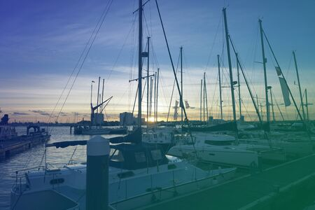 요트 부두 항해 선셋 바다