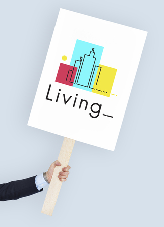 protester: Urban Living City Lifestyle Society Graphic
