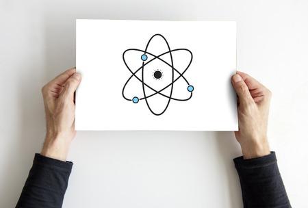 Abbildung der Quantenkern-Molekülstruktur Standard-Bild - 81134153