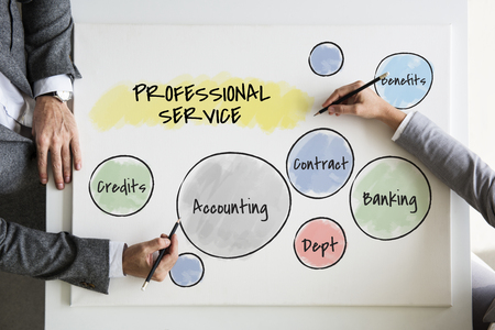 Businessmen with professional service concept