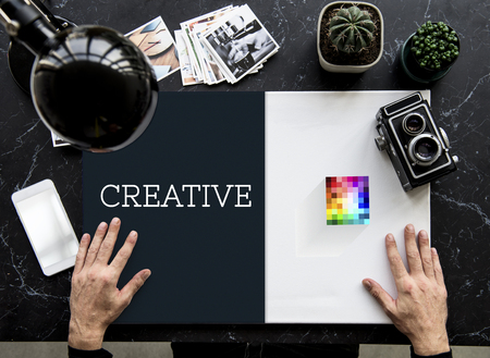 labelling: Creative Ideas Brand Logo Style