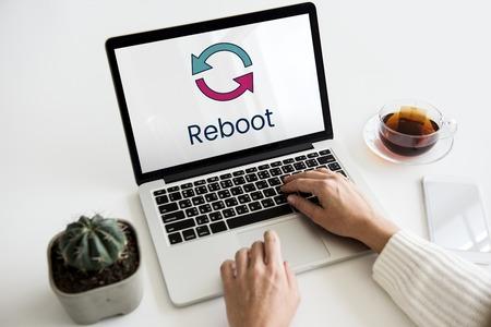 Reload reset technology update digital 版權商用圖片 - 81133986