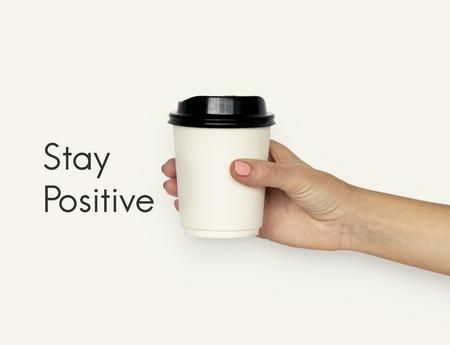 コーヒー カップ紙マグカップ休憩 写真素材