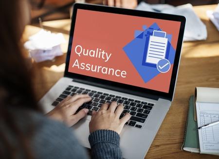 Quality Assurance Control Development Guarantee Stok Fotoğraf